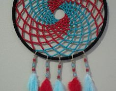 Native Made Dreamcatcher. Beaded by NativeBeachDreams on Etsy