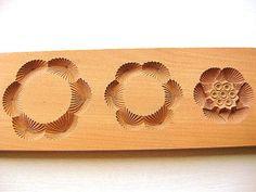 Vintage Japanese Kashigata Sweets Mold 3D Nesting Pine
