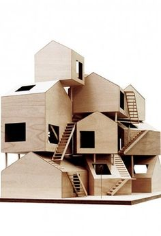 Tokyo Apartments / Sou Fujimoto This Tokyo apartment block project by Japanese architect Sou Fujimoto takes the archetypal western form of a house and combines it several times into this intriguing,. Architecture Du Japon, Maquette Architecture, Art And Architecture, Classical Architecture, Architecture Sketchbook, Fujimoto Sou, Tokyo Apartment, Japanese Interior Design, 3d Modelle