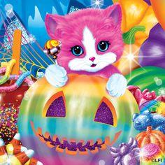 Risultati immagini per lisa frank kitten Fall Halloween, Happy Halloween, Halloween Items, Halloween Night, Lisa Frank Stickers, Michaela, 80 Cartoons, 90s Childhood, Rainbow Art
