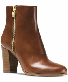 Womens Michael Kors Margaret Bootie Ankle BOOTS Leather Dark Caramel Size 10 for sale online Michael Kors Shoes, Handbags Michael Kors, Leather Booties, Leather Ankle Boots, Jeans With Heels, Shoes Heels Pumps, Women's Shoes, Brown Booties, Hunter Boots