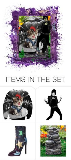 """""""Rock Kitten!"""" by trendace-460 ❤ liked on Polyvore featuring art"""