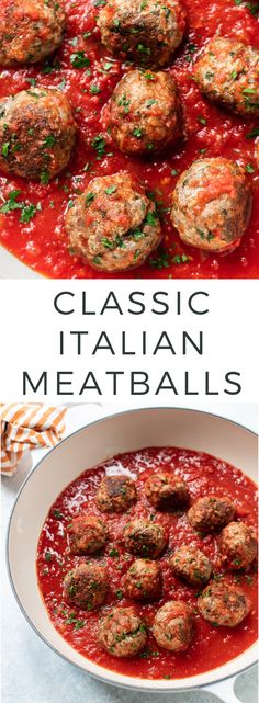 Italian Meatballs Classic Italian Meatballs Recipe - My mom's recipe for tender juicy homemade meatballs the whole family will love!Classic Italian Meatballs Recipe - My mom's recipe for tender juicy homemade meatballs the whole family will love! Beef Recipes, Healthy Recipes, Homemade Meatball Recipes, Beef Meatball Recipe, Homemade Dinners, Barbecue Recipes, Family Recipes, Sauce Recipes, Healthy Cooking