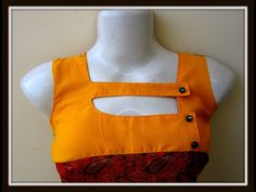 Latest boat neck with barfi and hole design cutting and stitching in Hindi - YouTube
