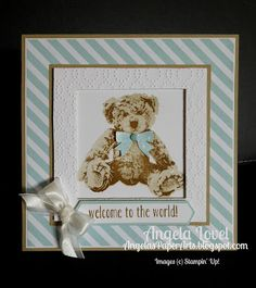 Angela's PaperArts: Welcome baby bear