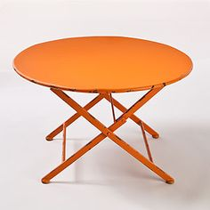 Orange Metal Folding Coffee Table | World Market