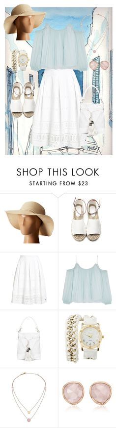 """""""Exploring Greece"""" by dundiddit ❤ liked on Polyvore featuring Hat Attack, Superdry, Elizabeth and James, Charlotte Russe, Michael Kors and Monica Vinader"""