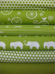 Jay-Cyn Designs for Birch Fabrics, Mod Basics, Organic, Grass