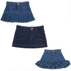 jean skirt set for American girl doll