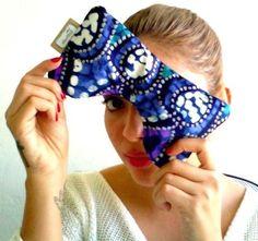 Blue Butterfly Eye Pillow