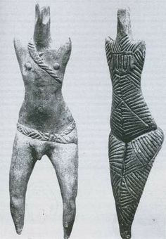 Detail man and woman,  Cucuteni culture, Romania (7000 - 3500 BC)