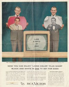Color Television, Vintage Television, Old Advertisements, Retro Advertising, Vintage Tv Ads, Life In The 1950s, Vintage Romance, First Tv, Oldies But Goodies