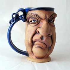 SNOOTY one of a kind FACE MUG by Herksworks on Etsy