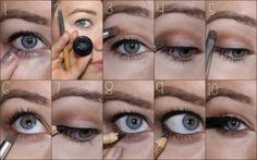 One Shadow Look with Pure Anada: 1: Concealer under the eyes, I used Porcelain Cream Concealer 2: Mocha and Contour Crease Brush 3: Mocha into the crease 4: Mocha to the outer corner of the eyelid 5: Blend that color in the crease 6: Smudge some Mocha under the eyes and blend 7: Pureline Pencil in Black to upper lashes 8: A little bit of Black liner in waterline 9: Black pencil to lower lashline 10: Black Mascara!