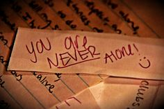 You are never alone!   Note found in Brew Bayou drawer at Marquette University.