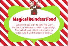Reindeer Food Free Printable Tags