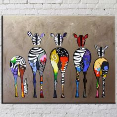 Colorful Zebra Frameless Canvas Painting Decorative Art Wall Painting by Numbers DIY Wall Pictures for Living Room Home Decor
