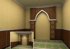 Desain Mushola Kecil Dalam Rumah Prayer Corner, Prayer Room, Home Room Design, House Rooms, Islam, Projects To Try, Interior Design, Mirror, Room Ideas
