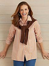 American Sweetheart® Striped Blouse | Haband