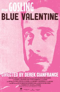 A series of 3 screen-printed posters, designed by Chris Rubino, for the film Blue Valentine, starring Ryan Gosling & Michelle Williams & directed by Derek Cianfrance, which premiered at the Sundance Film Festival 2010.