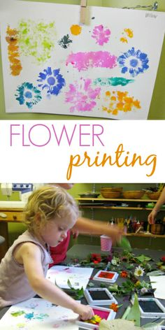 Flower Printing with Liquid Watercolors - What a fun and beautiful art project for kids!