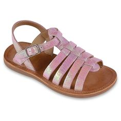 Shiny leather sandals - 118843