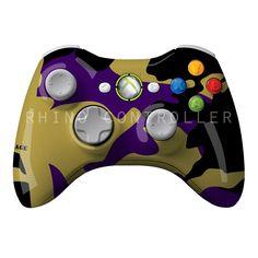 XBOX 360 controller Wireless Glossy Custom Painted- Without Mods Xbox 360 Controller, Custom Paint, Console, Roman Consul, Consoles