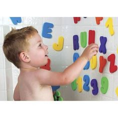 Show details for Bath Stickers - Letters and Numbers