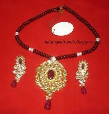 Image result for antique kundan pendants GRT