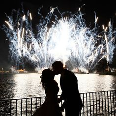 What better way to make your day sparkle than with fireworks? #Epcot #Disney #wedding