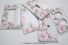 RASPBERRY ROSES Hand painted Roses Double Toggle