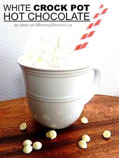 This white crock po. Crock Pot Hot Chocolate Recipe, Hot Chocolate Recipes, Delicious Chocolate, Cooker, Creamy White, Tableware, Easy, Dinnerware, Tablewares