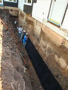 Paraseal Membrane Application Waterproofing Basement Wet