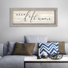"""Artissimo """"Keep Life Simple"""" Rustic Wall Decor"""