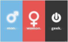 man / woman / geek