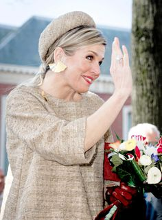 14 March: Queen Máxima visited the Migrant Offshore Aid Station (MOAS), a private organization that searches the sea for ships in distress and rescue refugees, to award them with the Geuzenpenning at the Grote Kerk in Vlaardingen.
