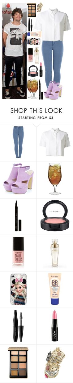 """Summertime Ball with Louis"" by xhoneymoonavenuex ❤ liked on Polyvore featuring Pieces, T By Alexander Wang, Luigi Bormioli, MAC Cosmetics, Forever 21, Victoria's Secret, Rimmel, MAKE UP FOR EVER, NYX and Bobbi Brown Cosmetics"