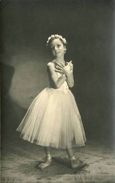 Vintage photo of a young ballerina