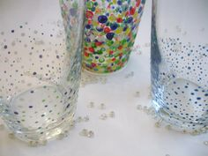@ Heather- Confetti Painted Glasses