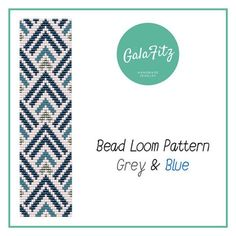 Bead loom bracelet pattern Greay&Blue