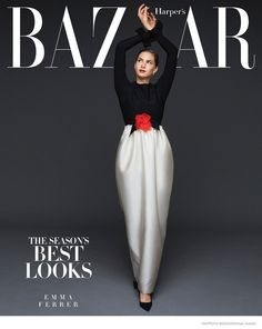 Harper's Bazaar USA (Setiembre 2014): Emma Ferrer (Suiza), fotografía by Michael Avedon.
