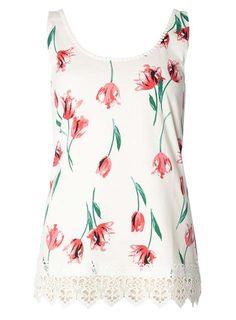 Pink Tulip Floral Crochet Vest - Dorothy Perkins