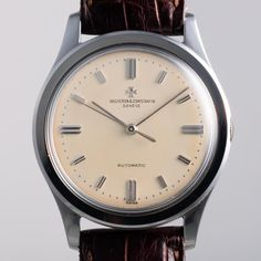 """""""A rare and beautiful oversized steel @vacheronconstantin automatic watch is featured now on Phillipswatches.com. Made in 1960, this uncommon ref. 6307…"""""""
