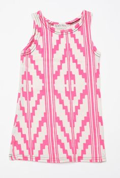 Hand Printed Navajo Kids Tank Dress