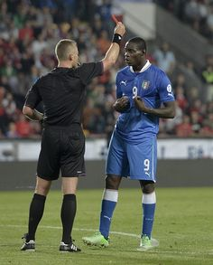 ~ Mario Balotelli on the Italy National Team receiving a Red Card ~