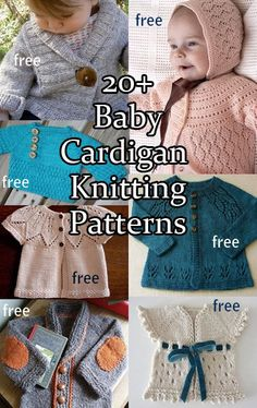 Baby Cardigan Sweater Knitting Patterns, most of them are free