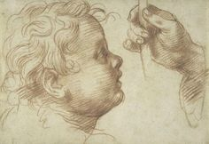 Andrea del Sarto (1486–1530), Studies of a Head and a Hand, 1510. Red chalk, 5 9/16 x 8 1/16 in. (14.2 x 20.5 cm). The Metropolitan Museum of Art; Rogers Fund, 1996 © The Metropolitan Museum of Art, courtesy Art Resource, NY