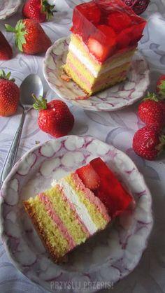 truskawkowe ciasto:) Cheesecake, Food, Cheese Cakes, Eten, Cheesecakes, Meals, Diet