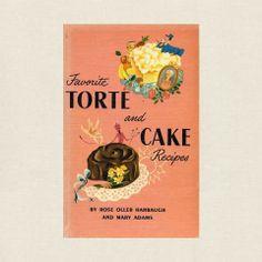 Favorite Torte and Cake Recipes Vintage Cookbook 1951 Asian Foods, Asian Recipes, Torte Recipe, Vintage Cookbooks, Store Online, Vintage Recipes, Fun Desserts, Chocolate Cake, Line Art
