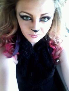 Wolf makeup. Halloween.